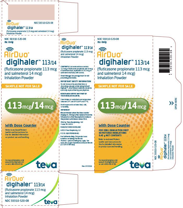 113/14 MCG Sample Carton