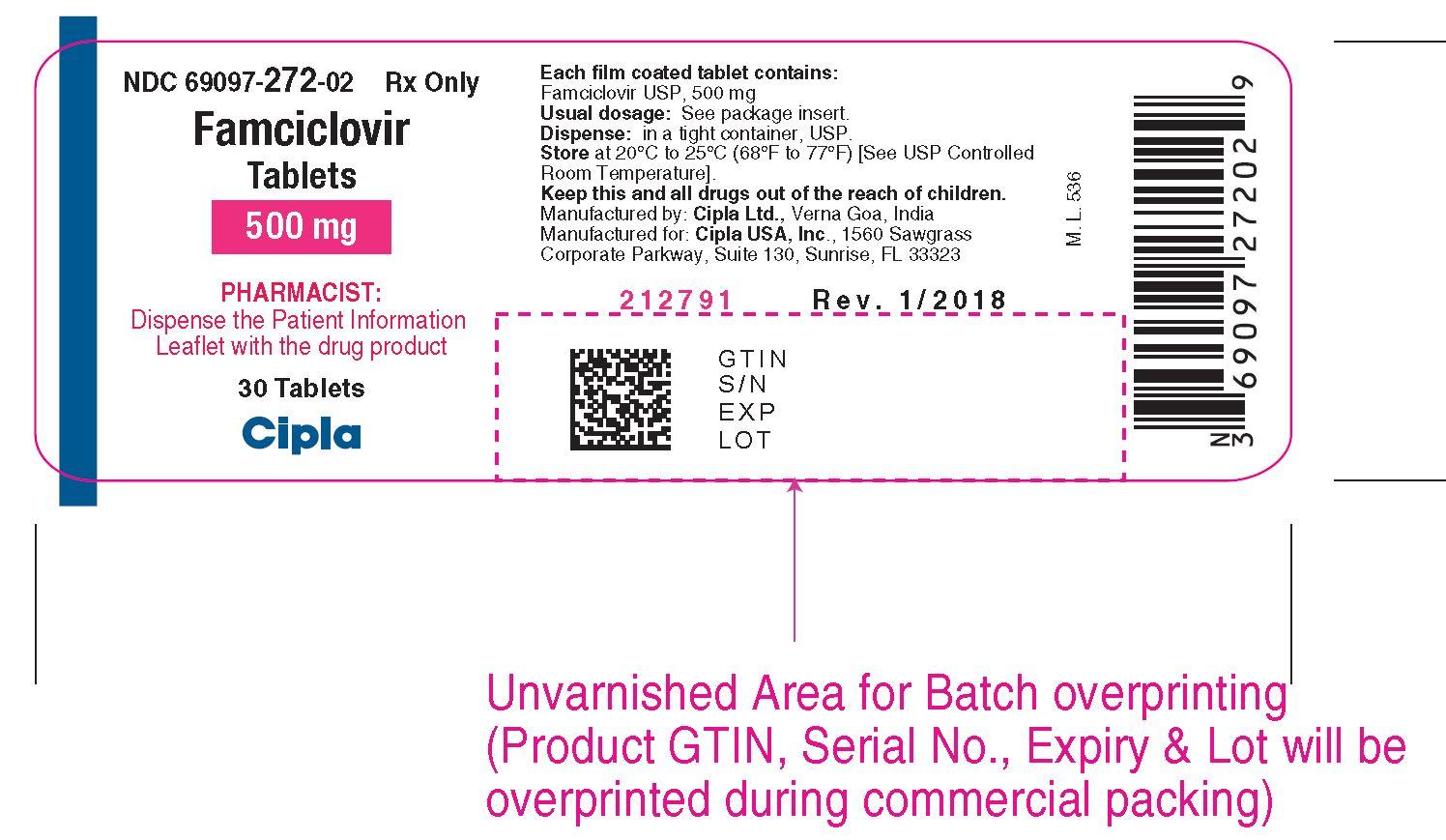 Cipla Bottle label 500mg