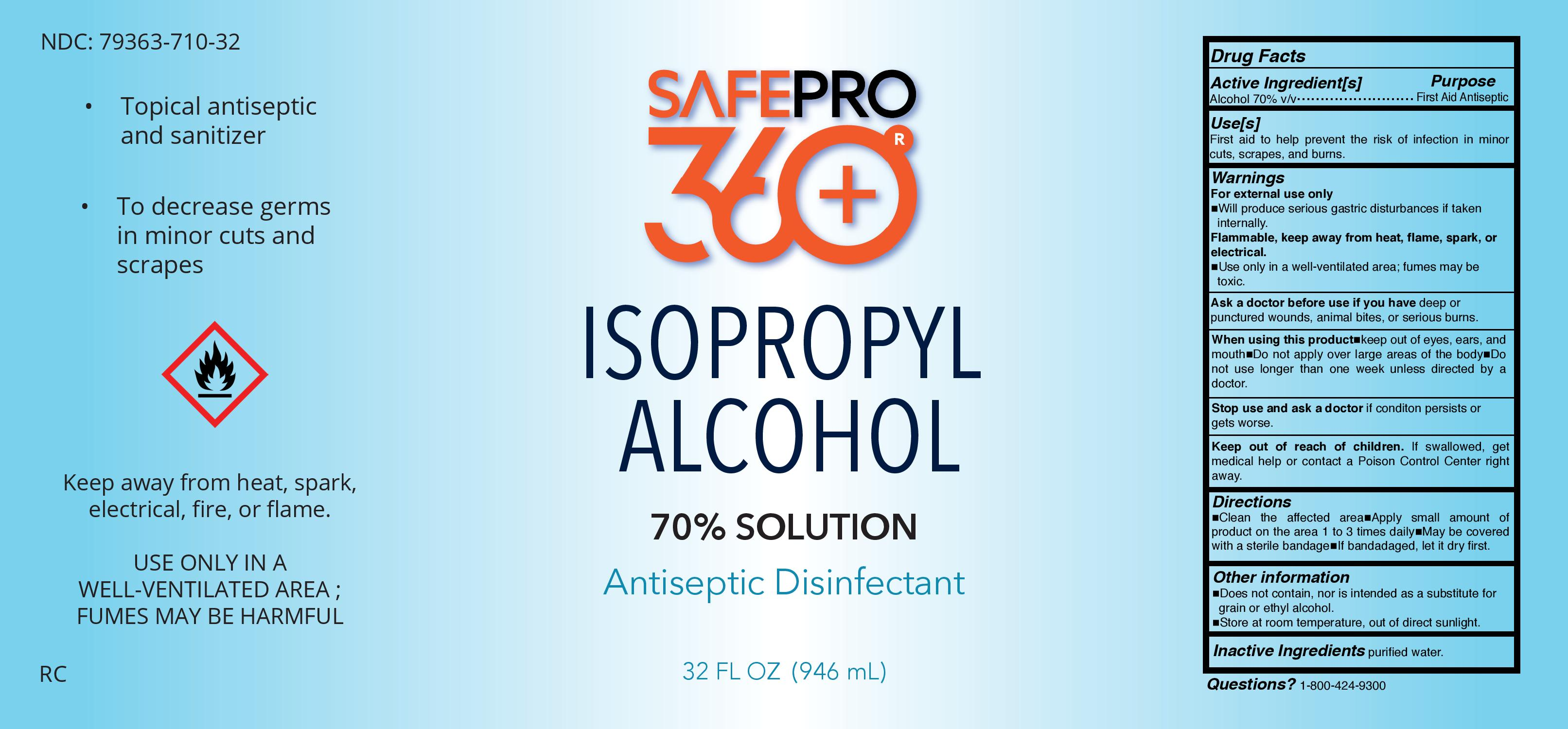 SafePro360 70% IPA 32oz