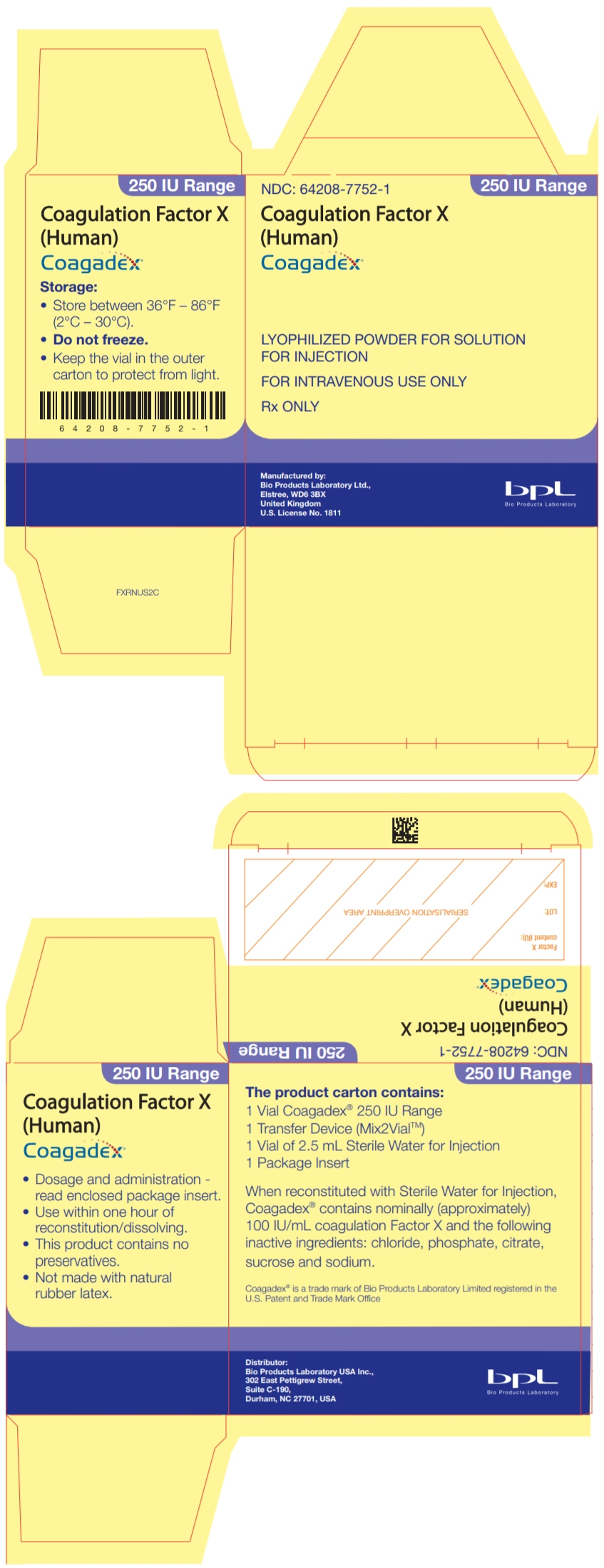 PRINCIPAL DISPLAY PANEL - 250 IU Kit Carton