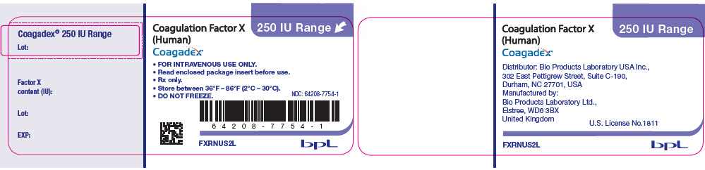 PRINCIPAL DISPLAY PANEL - 250 IU Vial Label