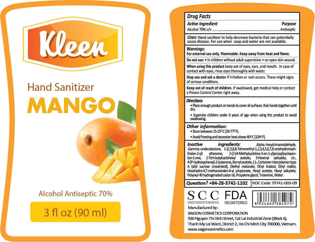 Kleen Hand Sanitizer Mango Label 90mL