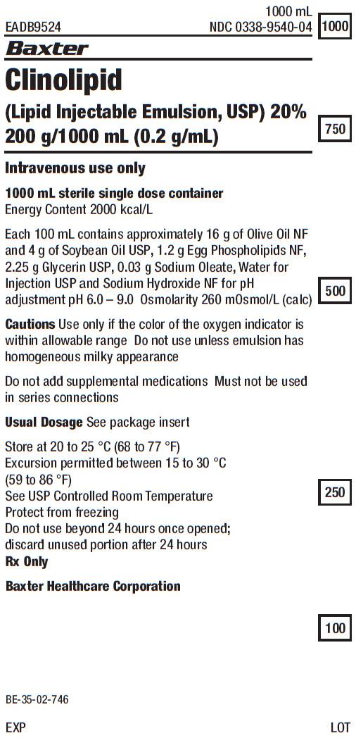 Clinolipid Representative Container Label