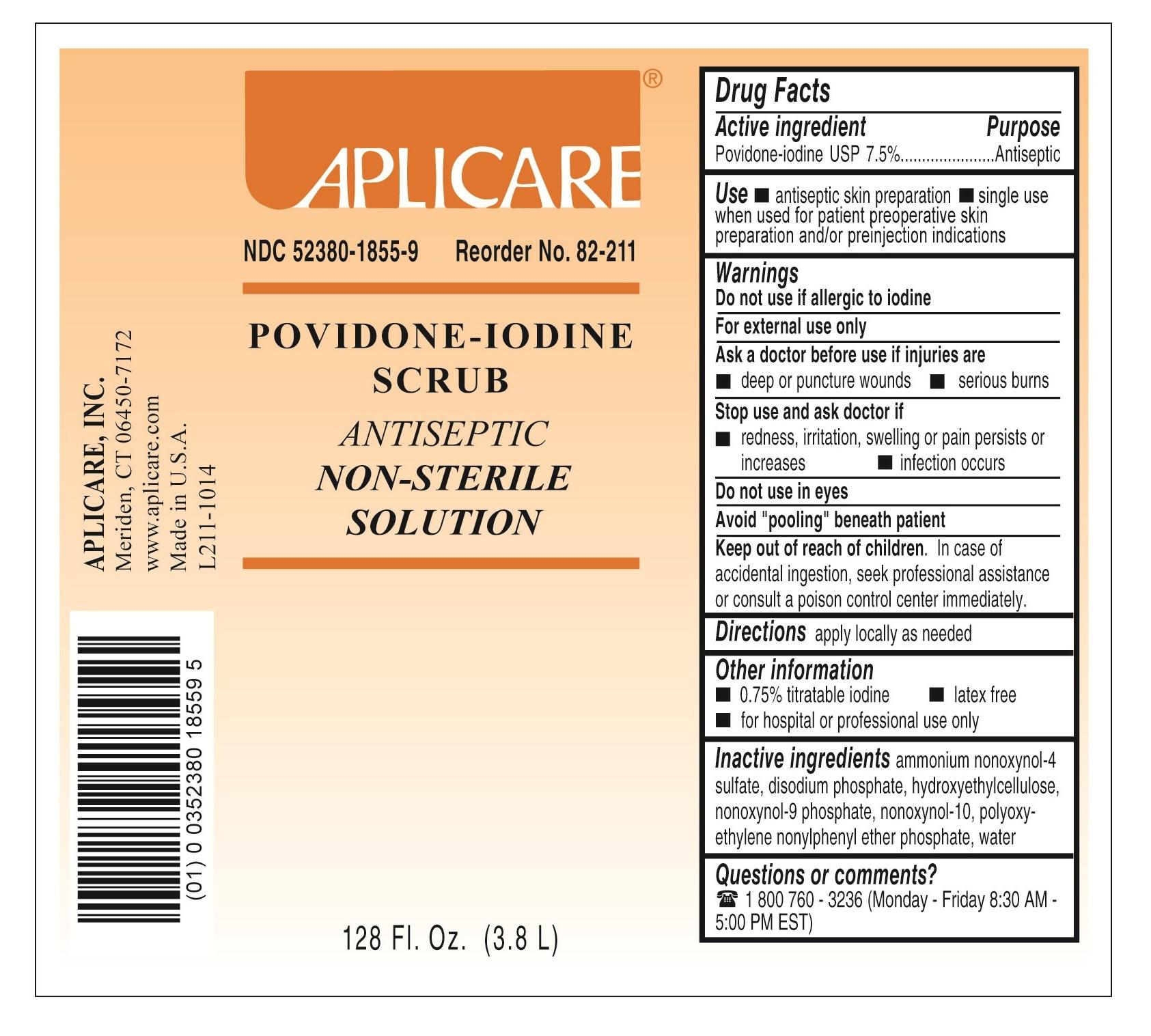 Povidone iodine scrub