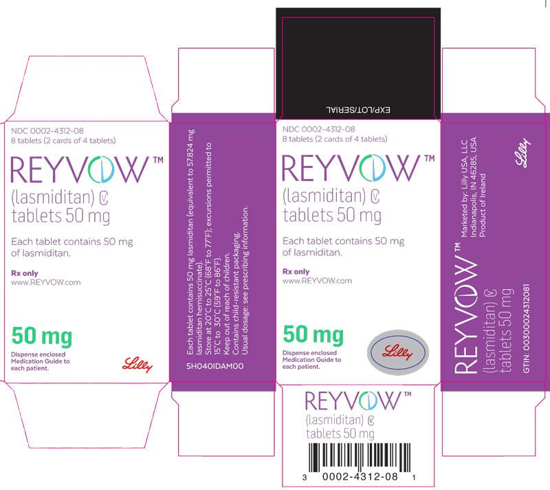 PDP Text – REYVOW 50 mg 8ct carton
