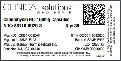 Clindamycin HCl 150mg Capsules 30 count blister card