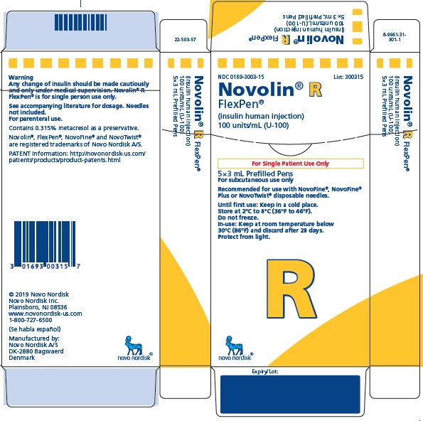Novolin R FlexPen carton