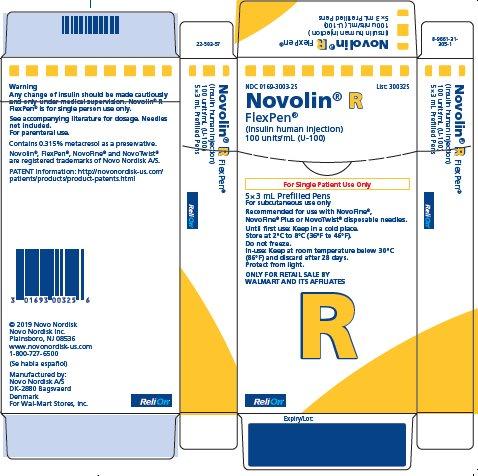 Novolin R FlexPen carton - ReliOn
