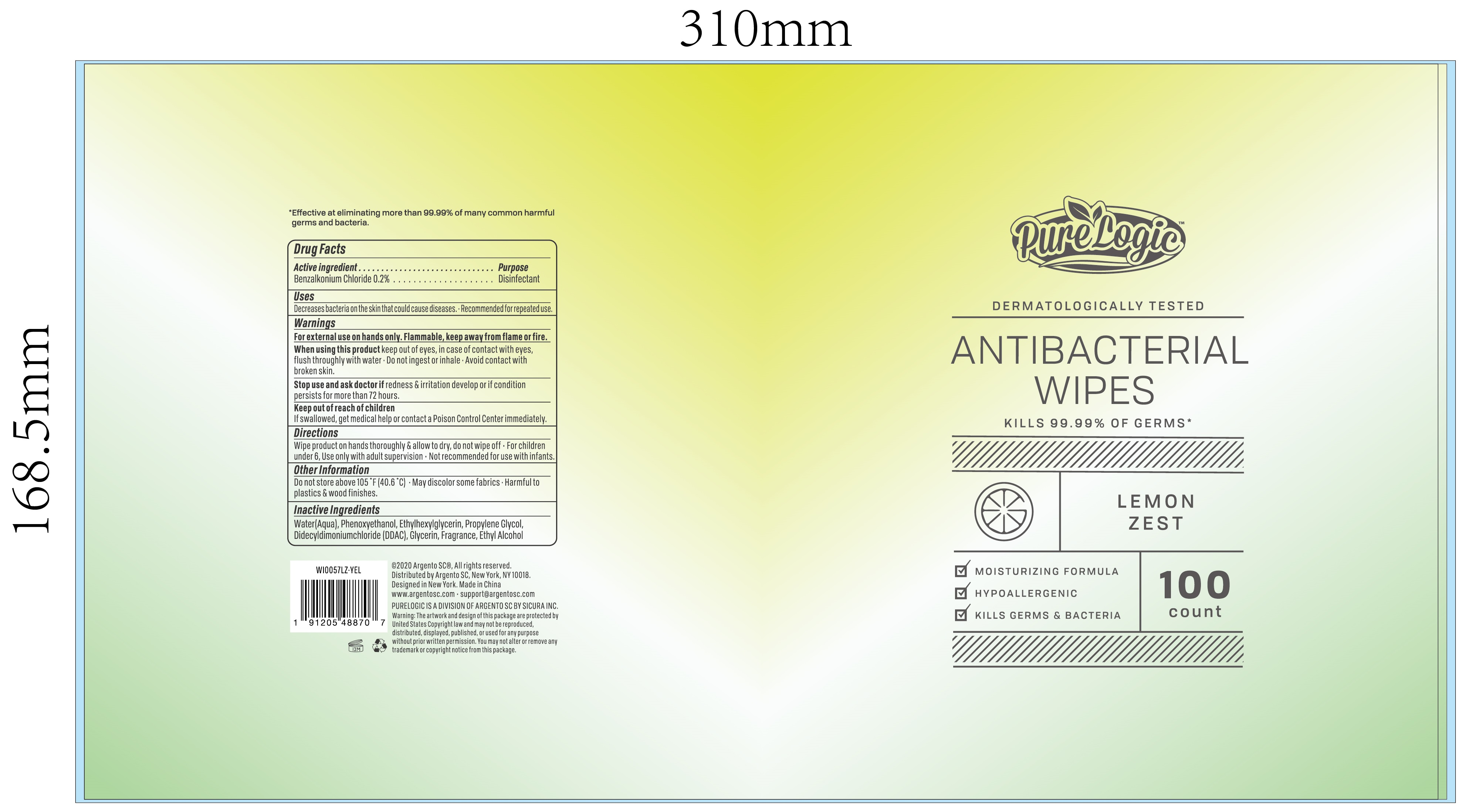 100 CLOTH LABEL