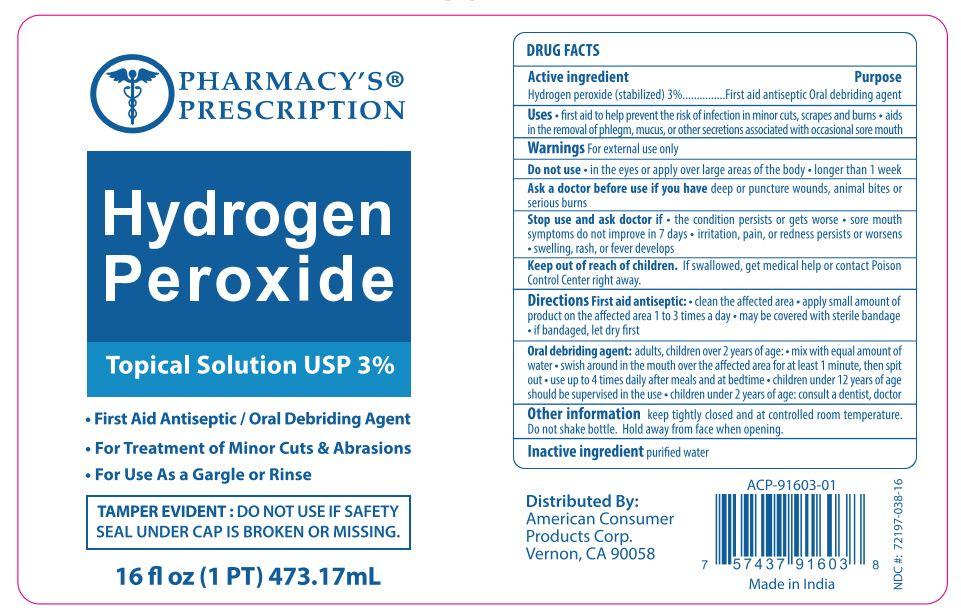 Pharmacys Prescription Hydrogen Peroxide