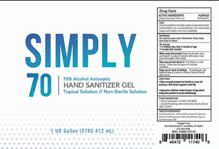 Simply 70 Hand Sanitizer Gel