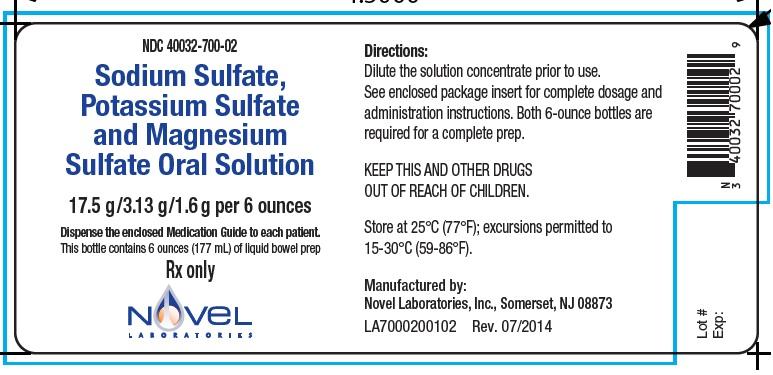 SODIUM SULFATE, POTASSIUM SULFATE, MAGNESIUM SULFATE solution