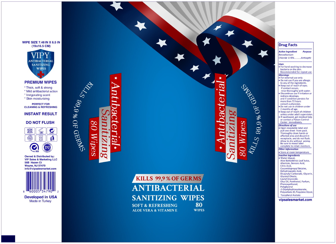 Antibacterial Sanitizing 80 Wipes