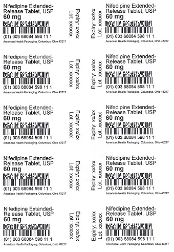 60 mg Nifedipine ER Tablet Blister