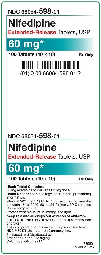60 mg Nifedipine ER Tablets Carton