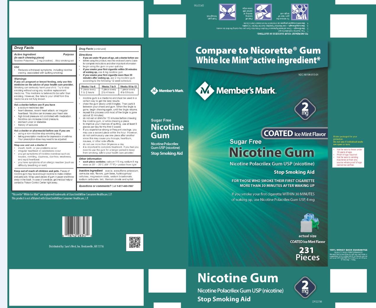 Nicotine Polacrilex Gum USP 2 mg Ice Mint Flavor