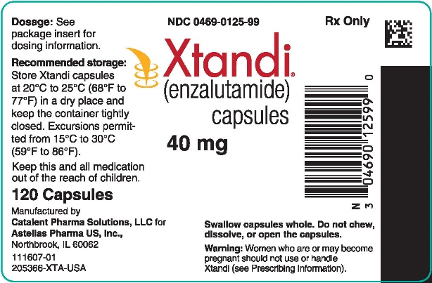 Xtandi (enzalutamide) capsules 40 mg label