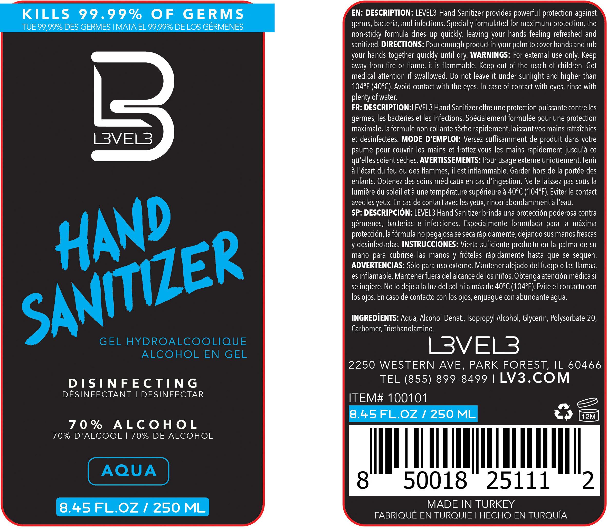 Aqua 250 ml Label