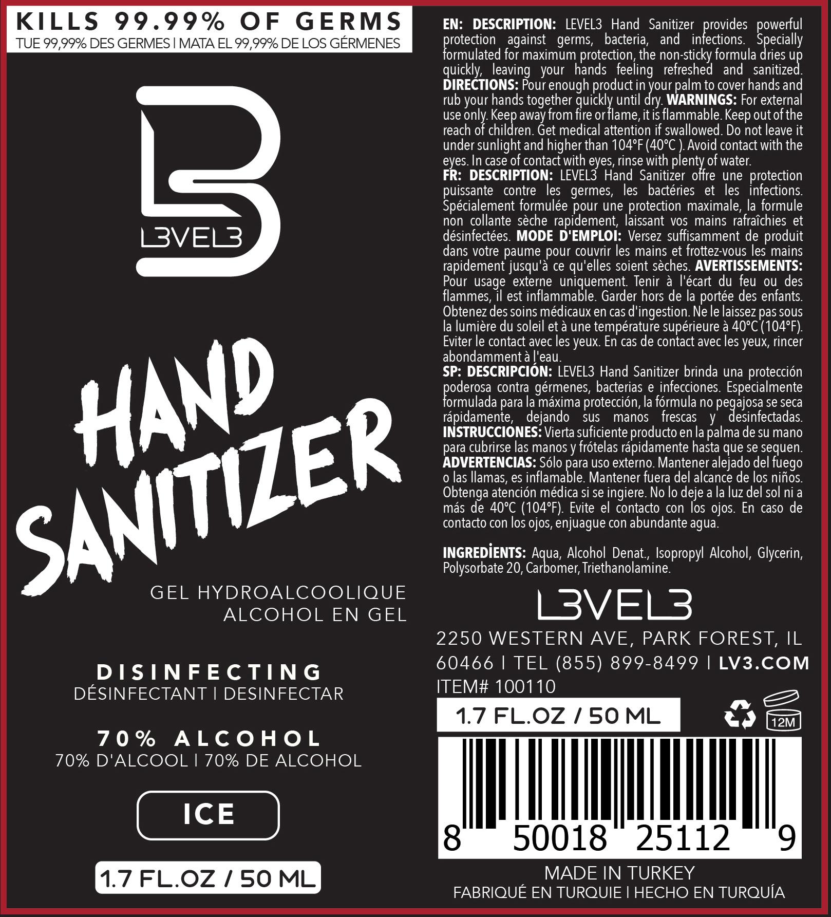 Ice 50ml Label