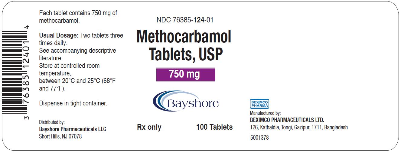 750 mg 100 Count Bottle Label