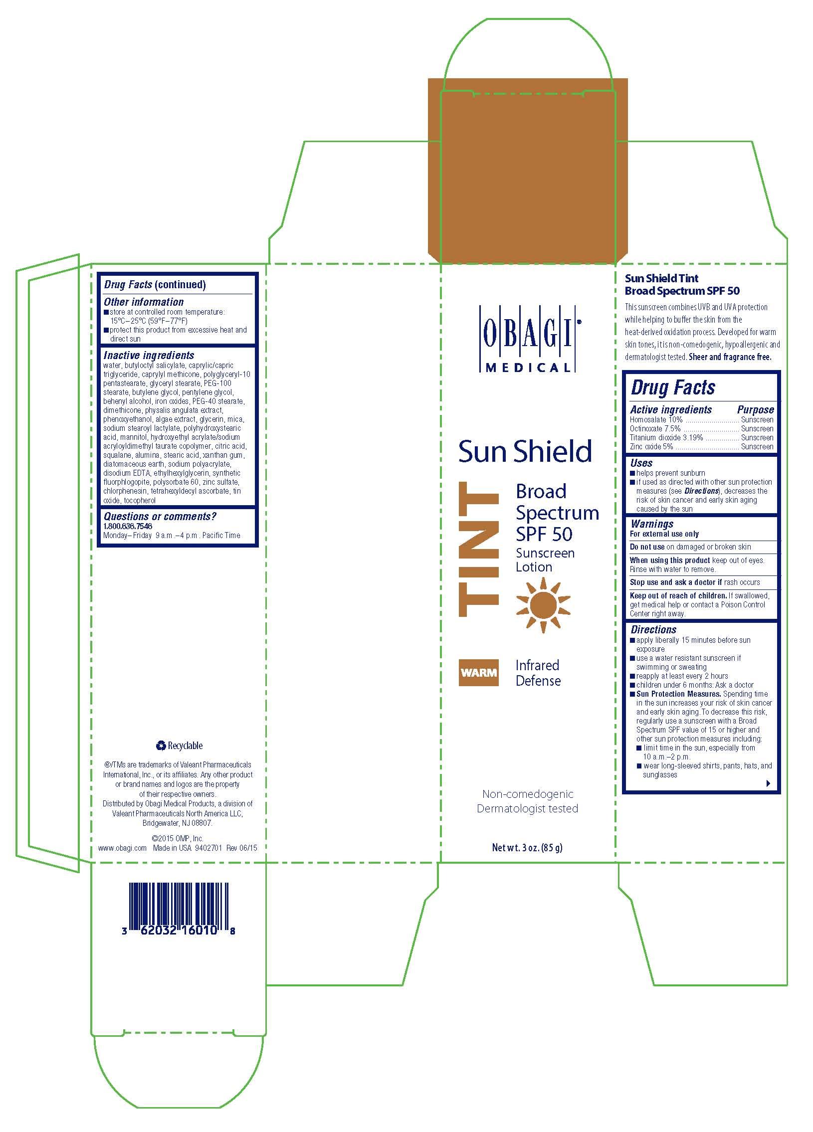 Obagi Sun Shield TINT Warm Sunscreen Broad Spectrum SPF 50 Carton