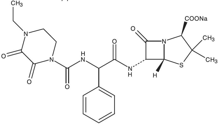 Piperacillin Chemical Structure