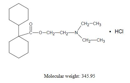 Dicyclomine hydrochloride structural image