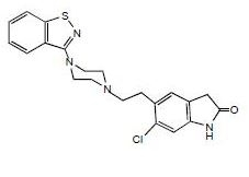 Chemical Structure-ziprasidone