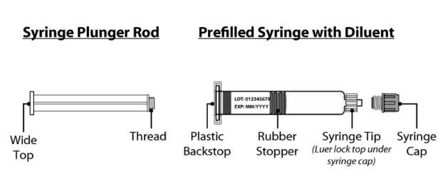 Syringe Plunger Rod  Prefilled Syringe with Diluent