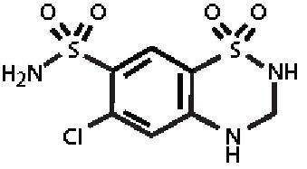 hctz-molec-struc