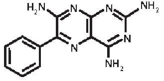 triamterene-molec-struc