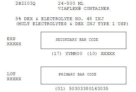 5% Dextrose and Electrolyte Representative Carton Label