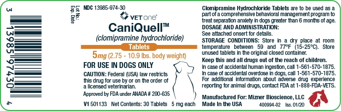 CaniQuell 5 mg (2.75-10.9 lbs. body weight)