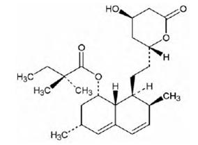 Simvastatin structural formula