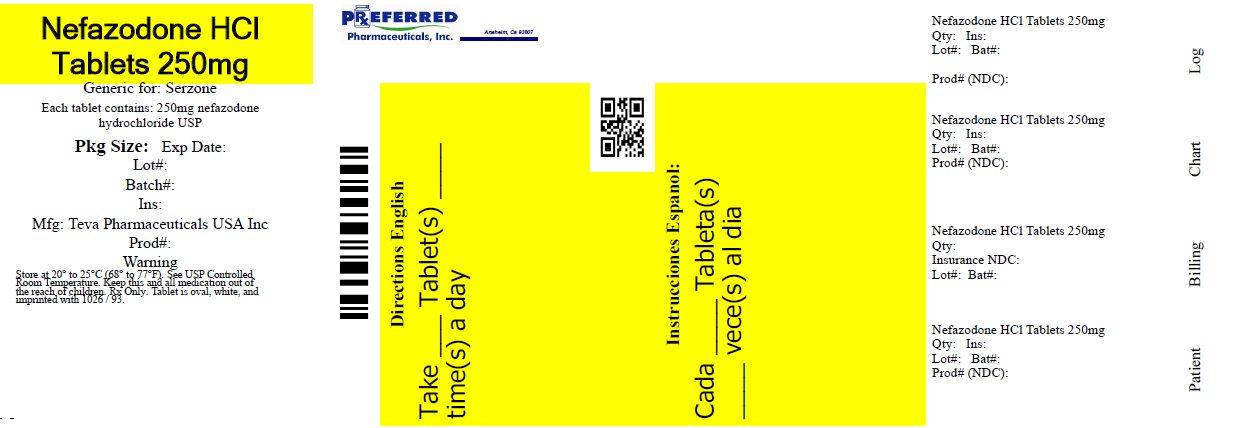 Nefazodone HCl Tablets 250mg