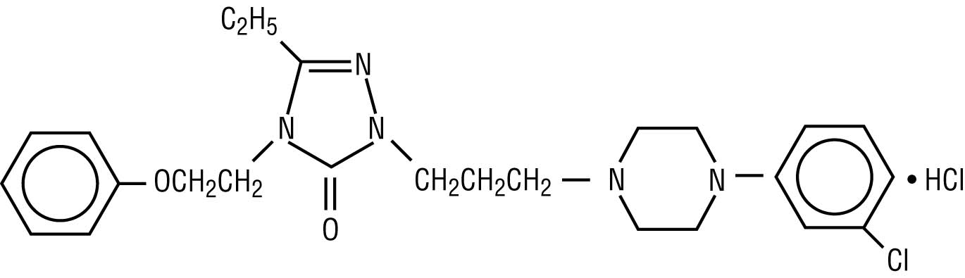 chemical structure for nefazodone hydrochloride