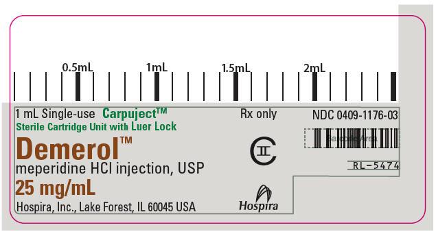 PRINCIPAL DISPLAY PANEL - 25 mg/mL Cartridge Label