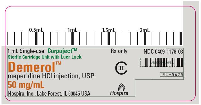 PRINCIPAL DISPLAY PANEL - 50 mg/mL Cartridge Label
