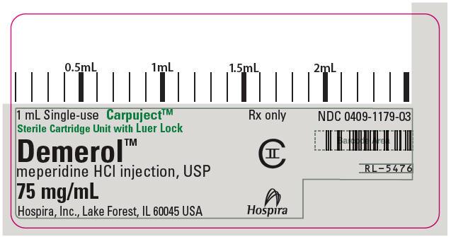 PRINCIPAL DISPLAY PANEL - 75 mg/mL Cartridge Label