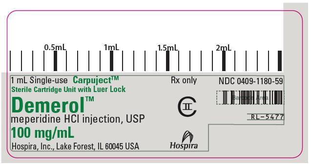 PRINCIPAL DISPLAY PANEL - 100 mg/mL Cartridge Label