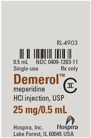 PRINCIPAL DISPLAY PANEL - 25 mg/0.5 mL Ampule Label