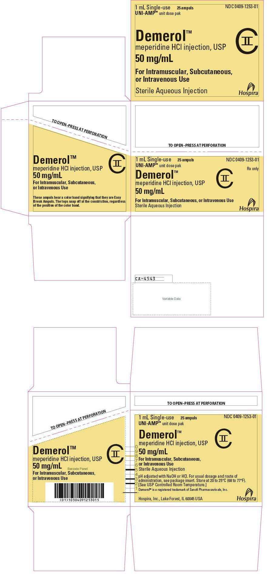 PRINCIPAL DISPLAY PANEL - 50 mg/mL Ampule Dose Pak Carton