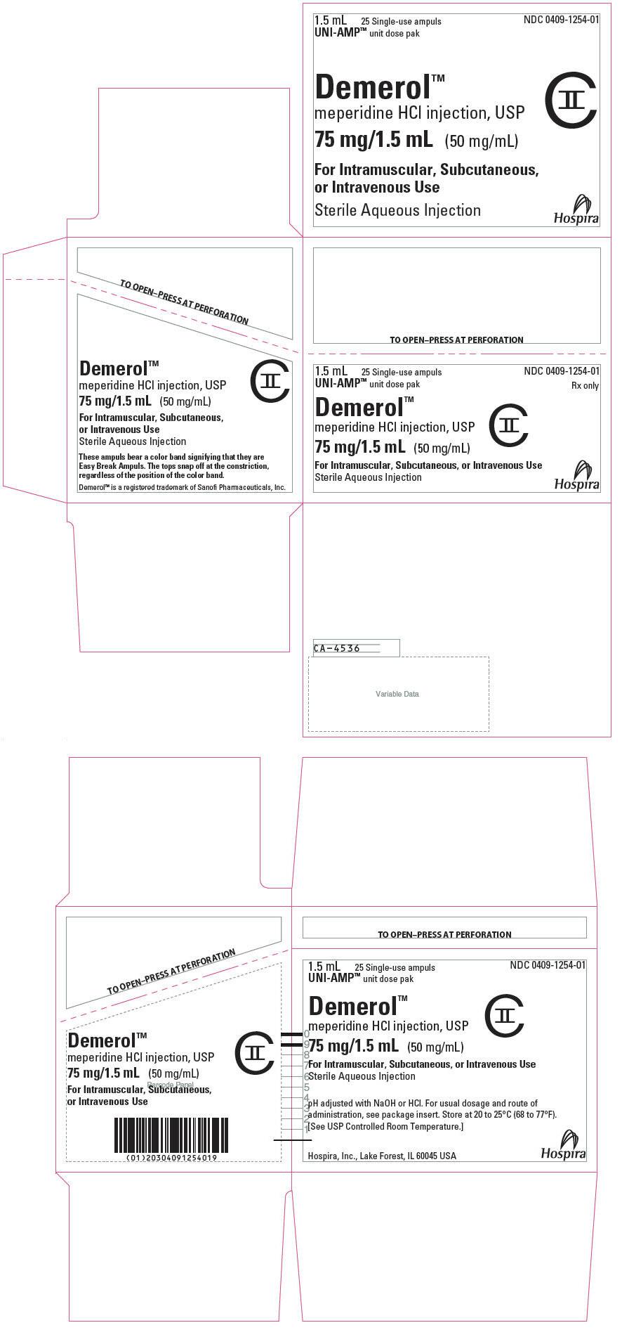 PRINCIPAL DISPLAY PANEL - 75 mg/1.5 mL Ampule Dose Pak Carton