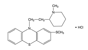 Thioridazine Hydrochloride Structural Formula