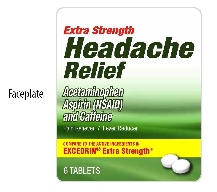 Headache Relief Extra Strength Faceplate