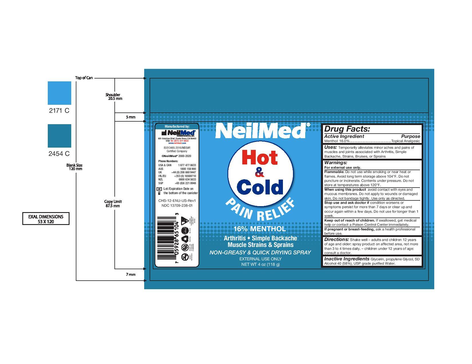 NeilMed Hot & Cold Pain Relief Spray