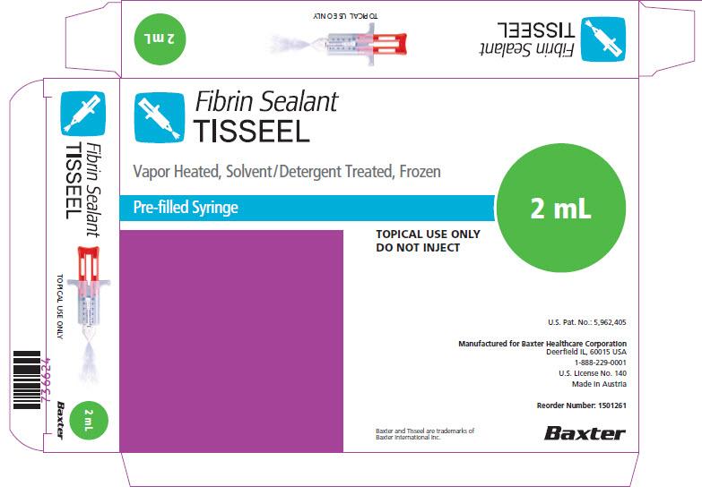 Tisseel Frozen 2mL Representative Carton Label  2 of 2  NDC: <a href=/NDC/0338-8402-02>0338-8402-02</a>