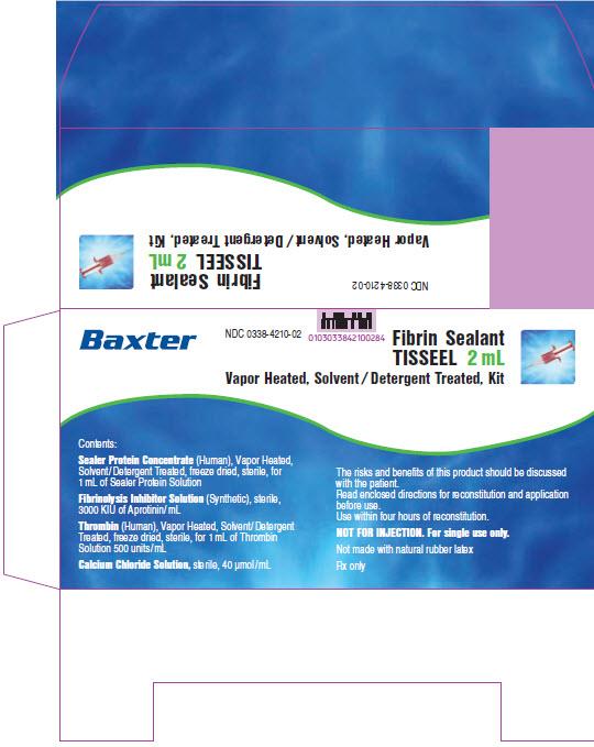Tisseel Lyo 2mL Representative Carton Label  1 of 2   NDC: <a href=/NDC/0338-4210-02>0338-4210-02</a>