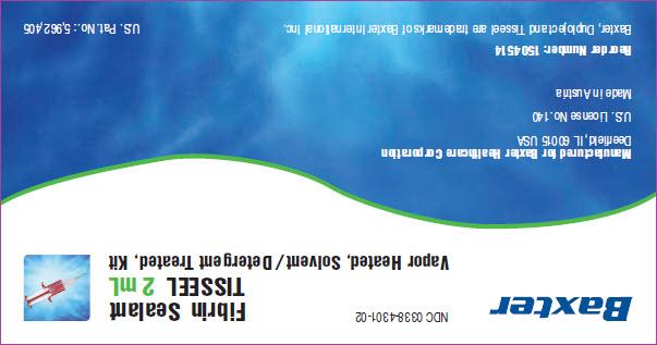 Tisseel Lyo 2mL Representative Sleeve Label 1 of 4  NDC: <a href=/NDC/0338-4301-02>0338-4301-02</a>