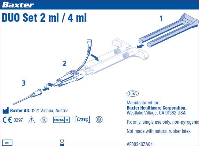Tisseel Frozen 2 mL - 4 mL Representative DUO Set Label